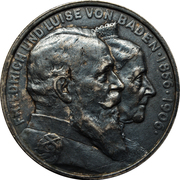 2 mark Friedrich I noces d'or – avers