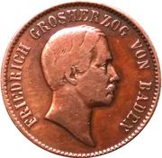 1 kreuzer Friedrich I. – avers