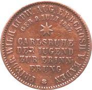 1 kreuzer Friedrich I. – revers