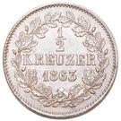 ½ kreuzer Friedrich I – revers
