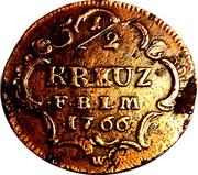 ½ kreuzer Karl Friedrich – revers