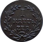 1 Kreuzer - Ludwig I – revers