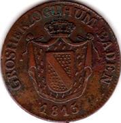1 kreuzer Karl II. Ludwig Friedrich – avers