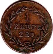 1 kreuzer Karl II. Ludwig Friedrich – revers