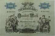 100 Mark (Badische Bank) – avers