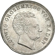 1 gulden Ludwig I – avers