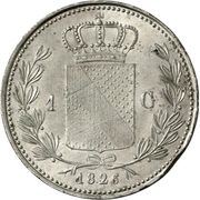 1 gulden Ludwig I – revers