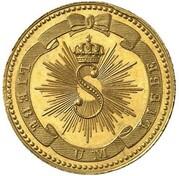 1 kreuzer Karl Leopold Friedrich (Frappe essai en or) – avers
