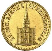 1 kreuzer Friedrich I (Frappe essai en or) – avers