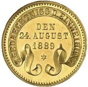 1 kreuzer Friedrich I (Frappe essai en or) – revers