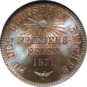 1 kreuzer Friedrich I – revers