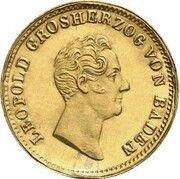 1 kreuzer Leopold I (Frappe essai en or) – avers