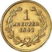 1 kreuzer Leopold I (Frappe essai en or) – revers