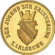 1 kreuzer Friedrich I (Victoire contre la France; Frappe essai en or) -  avers