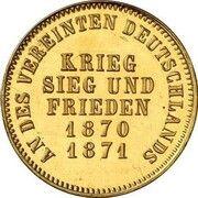 1 kreuzer Friedrich I (Victoire contre la France; Frappe essai en or) -  revers