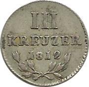 3 kreuzer Karl Friedrich – revers
