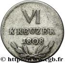6 kreuzer Karl Friedrich – revers