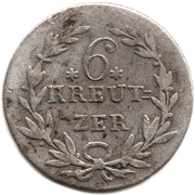 6 kreutzer Karl Ludwig Friedrich – revers