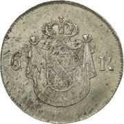 6 kreuzer Ludwig I – revers