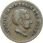 ½ kreuzer Ludwig I – avers