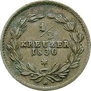 ½ kreuzer Ludwig I – revers