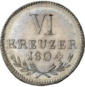 6 Kreuzer - Karl Ludwig Friedrich – revers