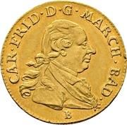 1 Ducat - Karl Friedrich (Naissance de Karl Ludwig Friedrich) – avers