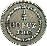 ¼ Kreuzer - Karl Friedrich – revers