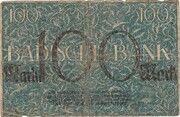 100 Mark (Badische Bank) – revers