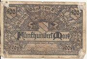 500 Mark (Mannheim) – avers