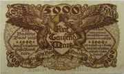 5000 Mark (Badische Bank) – avers