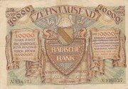 10,000 Mark (Badische Bank) – avers