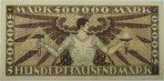 500,000 Mark (Badische Bank) – revers