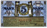 5 Mark (Kreis Lörrach) – avers