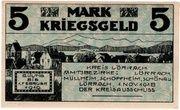 5 Mark (Kreis Lörrach) – revers