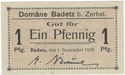 1 Pfennig (Badetz) – avers