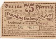 75 Pfennig (Badetz) – avers