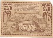 75 Pfennig (Badetz) – revers