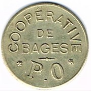 1 Franc - Coopérative - Bages (66) – avers