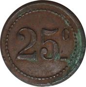25 Centimes - Coopérative de Bages [66] – revers