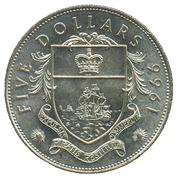 5 dollars - Elizabeth II -  revers