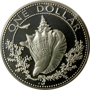 1 dollar - Elizabeth II (BE) – revers