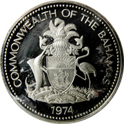5 dollars - Elizabeth II (BE) -  avers