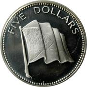 5 dollars - Elizabeth II (BE) -  revers