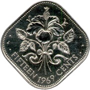 15 cents - Elizabeth II -  revers