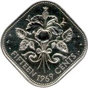 15 cents - Elizabeth II – revers