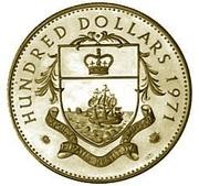 100 dollars - Elizabeth II -  avers
