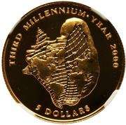 5 dollars (Troisième Millénaire) -  revers