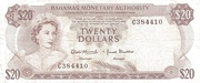20 Dollars 1968 – avers