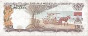 20 Dollars 1968 -  revers